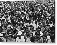 1963 March On Washington-faces Acrylic Print by Everett