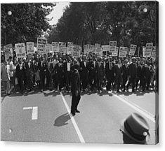 1963 March On Washington. Famous Civil Acrylic Print by Everett