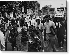 1963 March On Washington. Marchers Acrylic Print by Everett