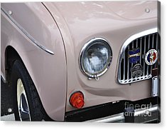 1963 Renault R4 - Headlight And Grill Acrylic Print by Kaye Menner