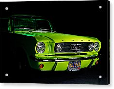 Acrylic Print featuring the photograph 1965 Ford Mustang by Jim Boardman