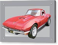 1967 Chevrolet Corvette Acrylic Print by Alain Jamar