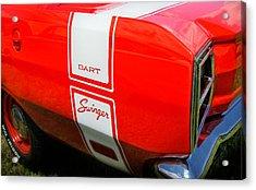 1969 Dodge Dart Swinger 340 Acrylic Print by Thomas Schoeller