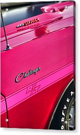 1970 Dodge Challenger Rt 440 Six Pack - Tickled Pink Acrylic Print by Gordon Dean II