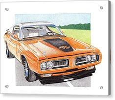 1971 Dodge Charger Rt Acrylic Print by James Robert