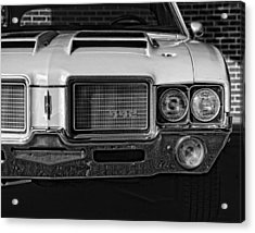 1972 Olds 442 Black And White  Acrylic Print by Gordon Dean II