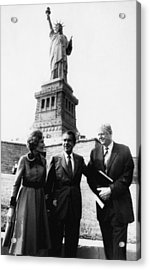 1972 Us Presidency.  From Left First Acrylic Print by Everett