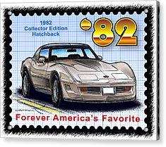 1982 Collector Edition Hatchback Corvette Acrylic Print