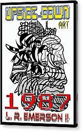 1987 Upside-down Art By Masg Artist L R Emerson II Acrylic Print by L R Emerson II