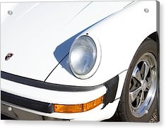 1987 White Porsche 911 Carrera Front Acrylic Print by James BO  Insogna