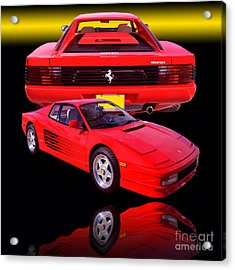 1990 Ferrari Testarossa Acrylic Print by Jim Carrell