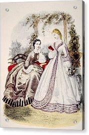 19th Century Fashion Illustration Acrylic Print by Everett