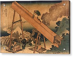 19th Century Japanese Print Shows Two Acrylic Print by Everett