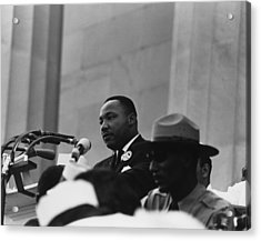 1963 March On Washington. Martin Luther Acrylic Print by Everett