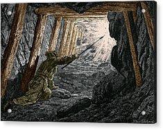 19th-century Coal Mining Acrylic Print by Sheila Terry