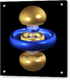 5dz2 Electron Orbital Acrylic Print by Dr Mark J. Winter