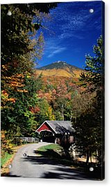 A Covered Bridge Acrylic Print by Richard Nowitz