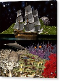 Acrylic Print featuring the digital art Above And Below by Claude McCoy