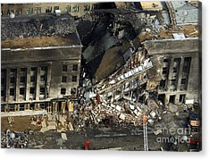 Aerial View Of The Terrorist Attack Acrylic Print
