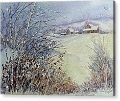 Acrylic Print featuring the painting After The Snowfall by Louise Peardon