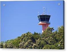 Airport Control Tower. Acrylic Print by Fernando Barozza