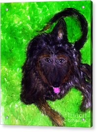 Acrylic Print featuring the painting AJ by Ayasha Loya