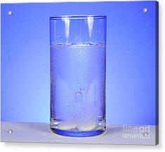 Alka-seltzer Dissolving In Water Acrylic Print