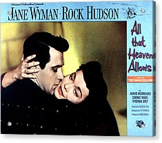 All That Heaven Allows, Rock Hudson Acrylic Print by Everett