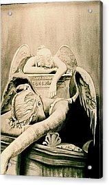 Angel Of Grief Acrylic Print by Teresa Beyer