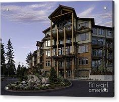 Apartment Building Entrance Acrylic Print by Robert Pisano