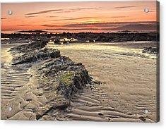 Ardrossan Sunset Acrylic Print by Fiona Messenger
