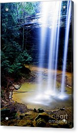 Ash Cave Waterfall Acrylic Print by Thomas R Fletcher