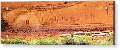 Barrier Canyon Style Rock Art Acrylic Print