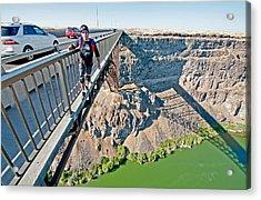 Base Jump Acrylic Print by Elijah Weber