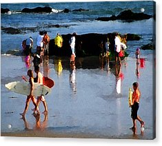 Beach Talk Acrylic Print by Ron Regalado