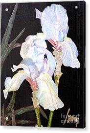Acrylic Print featuring the painting Blue Iris by Rod Ismay