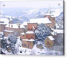 Bozouls Winter Acrylic Print by Sylvie Leandre