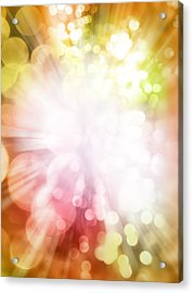 Bright Background Acrylic Print by Les Cunliffe