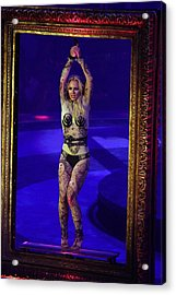 Britney Spears On Stage For The Circus Acrylic Print by Everett