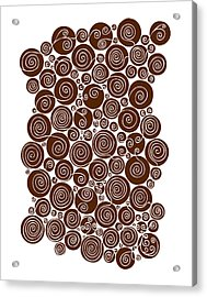 Brown Abstract Acrylic Print by Frank Tschakert