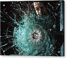 Bulletproof Glass Acrylic Print by Volker Steger