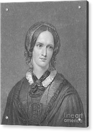 Charlotte Bronte, English Author Acrylic Print by Photo Researchers