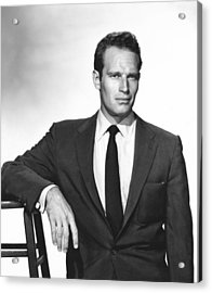 Charlton Heston, Paramount Pictures Acrylic Print by Everett