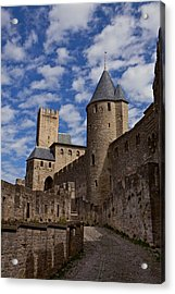 Chateau Comtal Of Carcassonne Fortress Acrylic Print by Evgeny Prokofyev
