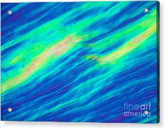 Cholesteric Liquid Crystals Acrylic Print by Michael Abbey and Photo Researchers