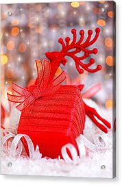 Christmas Gift Acrylic Print by Anna Om