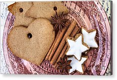 Christmas Gingerbread Acrylic Print by Nailia Schwarz