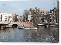 Acrylic Print featuring the digital art City Scenes From Amsterdam by Carol Ailles
