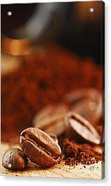 Coffee Beans And Ground Coffee Acrylic Print