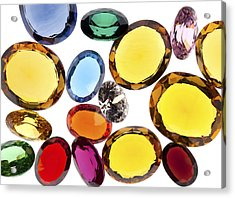 Colorful Gems Acrylic Print by Setsiri Silapasuwanchai